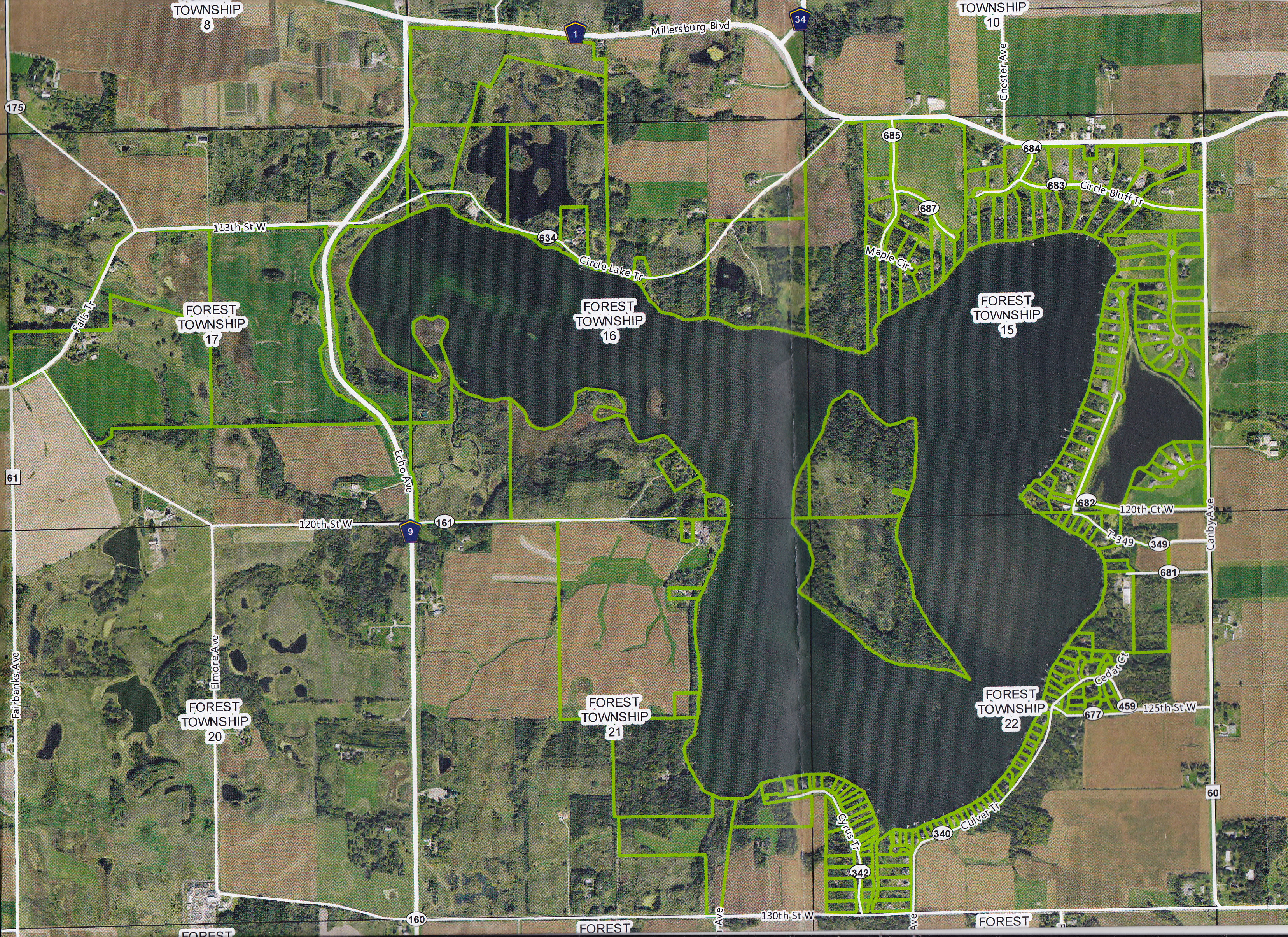 Circle Lake improvement District Boundaries